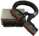 cable assembly 105, pin harness side